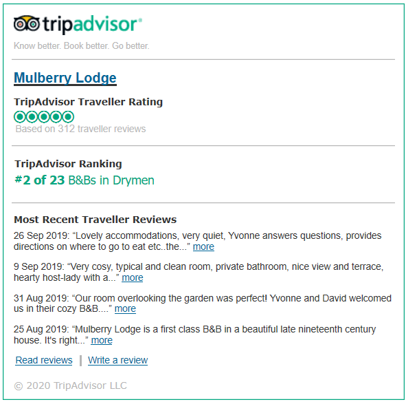 https://www.tripadvisor.co.uk/Hotel_Review-g551935-d1795088-Reviews-Mulberry_Lodge-Drymen_Loch_Lomond_and_The_Trossachs_National_Park_Scotland.html#REVIEWS